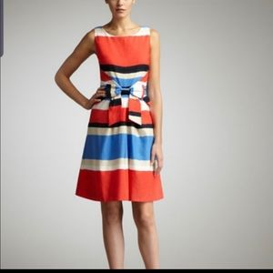 Kate Spade Jillian striped bow waist dress size 8